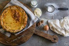 Γιαννιώτικη Γαλατόπιτα με φύλλο - madameginger.com Pie Recipes, Camembert Cheese, Dairy, Sweets, Baking, Desserts, Food, Greek, Image