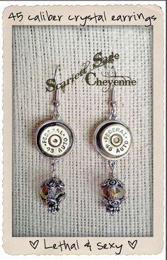 LOVE THIS!   Bullet Jewelry Earrings Crystal Bullet Pierced by ScarlettSage, $24.50