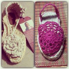 Cuales prefieres??? Solo $35.000 y te vas a sentir divina por dentro y por fuera!!! #crochet #responsabiludadsocial #pink #spring #ss14 #summer #alpargatas // whichone you prefer?? Both make you feel great inside and outside for just $20 usd !!! #supportus  CONTACT US fundaciontejiendohistorias@gmail.com