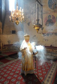 Greek Orthodox prayer arise as incense Orthodox Christianity, Orthodox Priest, Russian Orthodox, Church Architecture, World Religions, Sacred Art, Christian Art, Kirchen, Virgin Mary