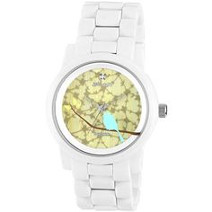Sprout® Eco-Friendly Womens Bird White Corn Resin Bracelet Watch - jcpenney