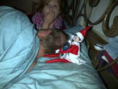 Suzy Jingle Bella cut Daddy's hair!!  December 23....daddy is going to be so mad!  Elf on the shelf