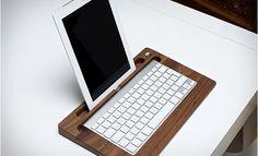 Houten TabletTray transformeert je iPad in een stijlvolle laptop