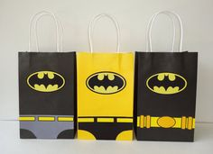 Batman Favor Bags Instant Download DIY- Batman Goody Bags, Batman Party Bags…