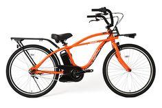 ビームスとパナソニック、共同開発の電動アシスト自転車「BP02」- オレンジ・ホワイトの2色   ニュース - ファッションプレス