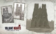 The city of Reims and its majestic cathedral, site of major conflict on the Western Front and a key setting in Valiant Hearts.
