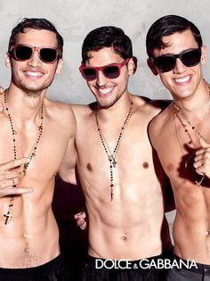 Misa Patinszki, Travis Cannata and Xavier Serrano by Domenico Dolce for the Dolce & Gabbana's Spring Summer 2015 Eyewear Campaign