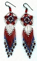 Three Dimensional Star Earrings Pattern by Charlotte Holley - Beaded Legends by Chalaedra at Bead-Patterns.com
