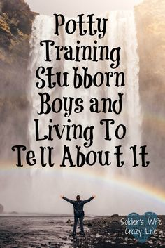Potty Training Stubborn Boys and Living To Tell About It - Soldier's Wife, Crazy Life