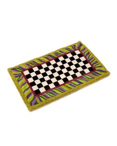 Courtly Check Entrance Mat $165