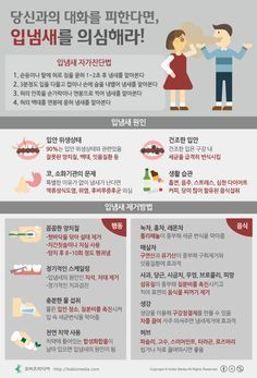 [Korean] 당신과의 대화를 피한다면, 입냄새를 의심해라! #Infographic #smell