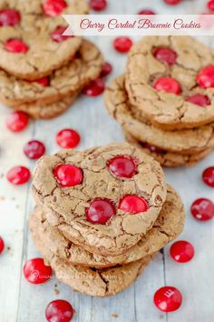 Cherry Cordial Brownie Cookies by The Sweet Chick