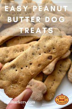 Dog Cookie Recipes, Easy Dog Treat Recipes, Dog Biscuit Recipes, Homemade Dog Treats, Healthy Dog Treats, Recipe For Dog Biscuits, Dog Food Recipes, Pet Treats, Peanut Butter Dog Treats