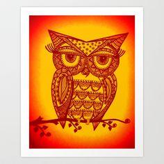 Owl  Art Print by Sketchii Studio - $24.96