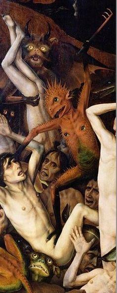 Hans Memling, The Last Judgment, triptych, Das Jüngste Gericht, Hieronymus Bosch, Medieval Art, Renaissance Art, Medieval Drawings, Robert Campin, The Last Judgment, Angels And Demons, Religious Art, Satan