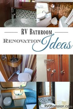 RV Bathroom Renovations - If you're looking to renovate your RV, then check out these RB bathroom renovations for some inspiration and ideas. Small Bathroom Sinks, Rv Bathroom, Bathroom Renos, Bathroom Renovations, Bathroom Fixtures, Bathroom Furniture, Bathroom Interior, Bathroom Ideas, Rv Interior
