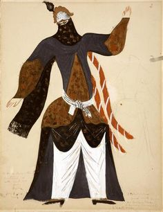 Pavel Tchelitchew, costume design for the opera Le Coq d'Or, 1923