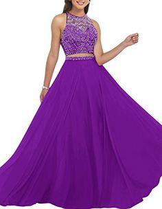 Dresstells® Long Prom Dress 2016 Two Pieces Chiffon Evening Gowns with Beadings Dresstells http://www.amazon.co.uk/dp/B01CM3H7NU/ref=cm_sw_r_pi_dp_HOr4wb15YWDQZ