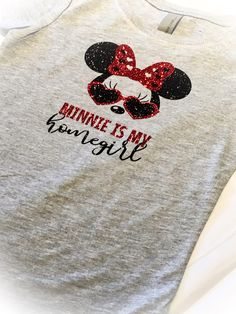 Cute toddler girl Minnie is my homegirl tee shirt Girls funny Minnie Mouse top by CaughtYACreations on Etsy