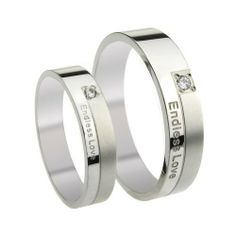 """Endless Love"" Mens Ladies Wedding Band Titanium Stainless Steel Couples Promise Ring Tungsten Love. $8.99. Width: 5mm for male or 4mm for female. List price is for one ring only. Purchase two rings for a matching set.. Weight: 4.1g for male or 2.3g for female"