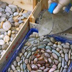 Mosaikschalen ausgießen