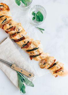 Weekendbites: Partybrood met prosciutto en taleggio