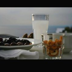 Ouzo and olives,greece