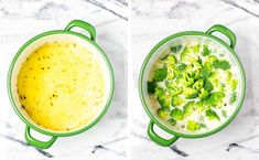 Satisfying and creamy: this Broccoli Soup always hits the spot. So easy to make and ready in under 25 minutes. Filling and no one could ever tell it is entirely vegan. A keeper for lunch, dinner, meal prep that the whole will family love. Broccoli Soup Recipes, Cream Of Broccoli Soup, Fresh Broccoli, Vegetarian Soup, Vegan Soup, How To Make Broccoli, Dinner Meal, Glutenfree, Sin Gluten