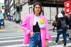 Three spring outfit ideas that incorporate minimalist and maximalist clothing.