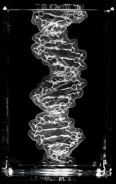 Laser cut crystal DNA structure                      (cool)