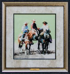 """Western artist Don Weller created this watercolor, """"Plans,"""" for the America's Horse in Art Show & Sale taking place through November 16 at the American Quarter Horse Hall of Fame & Museum in Amarillo. Check out the dozens of pieces for sale! http://aqha.com/Museum/Exhibits/Americas-Horse-in-Art/Artists/Don-Weller.aspx"""