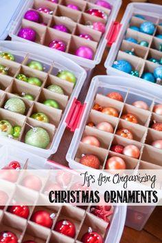 Tips for Organizing Christmas Ornaments | http://creativecaincabin.com