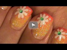 "Summer Flower Short Nails Ombre Gradient Nail Art Design Tutorial Video - My Spanish Channel Link:   Hello You Guys !!!  Happy Wednesday ~  Today I got home a little earlier than usual & I had time to edit this video. I've had this video for a long time, but just now had time to edit & upload. This nail art design I made when I was documenting the "" How to grow long nails in a 2 month period"".I hope you like it.  Have a Happy rest of the week & I will see you Friday, bye*  Disclaimer: I have no"