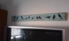 Bird art whimsical wall decor family birds on a wire reclaimed wood handmade wood signs USD) by Pallet Painting, Painting On Wood, Arte Pallet, Cuadros Diy, Bird Houses Painted, Wood Bird, Bird Art, Wood Pallets, Pallet Wood