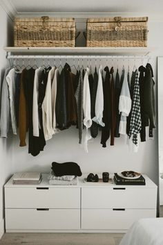 how to build an open concept closet, diy open closet, clothing storage for small space, alicia fashionista Bedroom Storage Ideas For Clothes, Bedroom Storage For Small Rooms, Master Bedroom Closet, Small Space Storage, Small Bedrooms, Diy Home Accessories, Closet Accessories, Diy Home Decor Bedroom, Bedroom Ideas