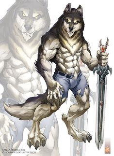 gotta hand it to Chaos-Draco on DeviantArt, the guy can draw some bad-ass Were beasts