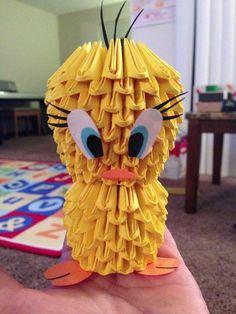 3D Origami Tweetie Bird! Came up with the design myself :D