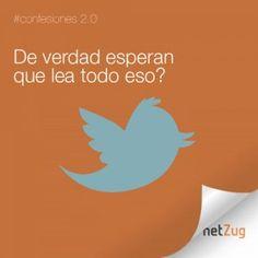 De verdad esperan que lea todo eso? #netzug #twitter