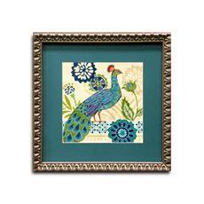 Blue Peacock Wall Art - Bed Bath & Beyond