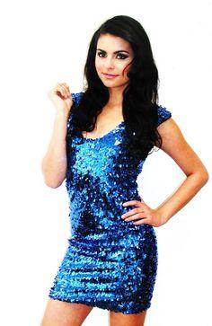 28939ed172745 Shop Kami Shade  - Blue Bombshell Sleeveless Blue Sparkle Glitter Sequin  Dress