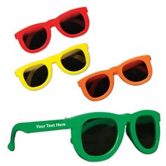 "Personalized Kids Party Sunglasses Assortment: Available Colors: Assorted Colors. Imprint Area: 1 1/2"" X 1/4"". Product Size: Child. Product Weight: 24 lbs. Packaging: 576 pieces. #KidsPartySunglass #promotionalproduct #freeshipping"