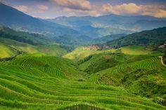 природа, пейзажи, небо, зелень, холмы, облака