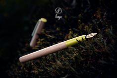 Beech with yellowgreen Fountain Pen, Peru, Natural, Design, Turkey, Nature, Au Natural