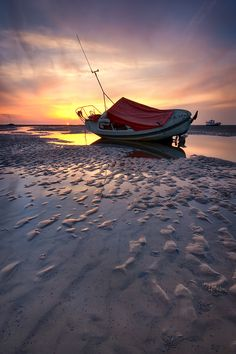 Sunset at Meols in Wirral, UK