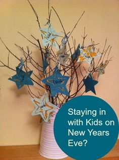A wishing tree is a great New Years Eve craft to make with children.