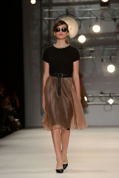 Kate Sylvester - Summer 13 Runway: Arletta top, Joan skirt, Mary-Jane pumps