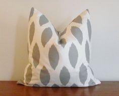Gray Watercolor decor pillow
