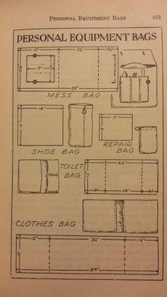 Personal Equipment Bags - Handbook for Patrol Leaders 1949