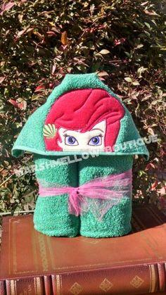 Disney Little Mermaid Hooded towels the BEST