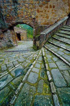 Stairs, Pitigliano, Tuscany, Italy